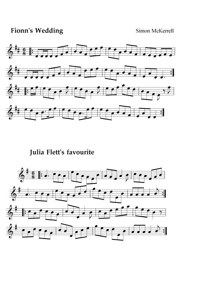 Fionn's tune & Julia Flett's Favourite_result