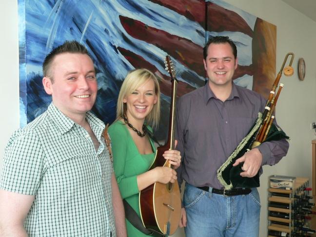 Rough Tides band Julia Reid, Padraig O'Neill and Simon McKerrell